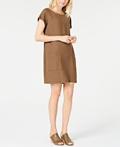 da23ae092a3 Eileen Fisher Boat-Neck Tencel®Linen Dress