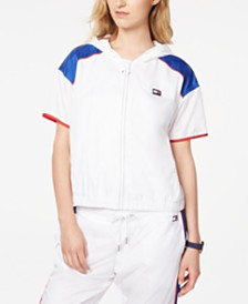 Tommy Hilfiger Sport Colorblocked Short-Sleeve Jacket