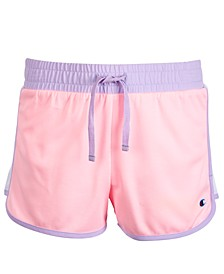Little Girls Colorblocked Mesh Shorts