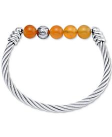 Calypso Beaded Bangle Bracelet in Stainless Steel