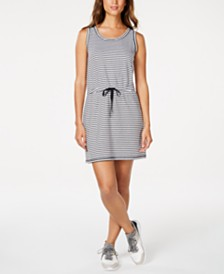 Ideology Striped Drawstring Dress, Created for Macy's