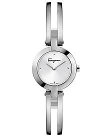 Ferragamo Women's Swiss Miniature Stainless Steel Bracelet Watch 26mm