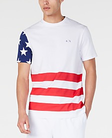 A|X Armani Exchange Men's American Flag T-Shirt Created For Macy's