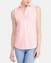 bd356b5a5fc1f Lauren Ralph Lauren Sleeveless Stretch Shirt