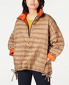 Pullover Long Quilted Puffer Jacket