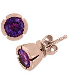 EFFY® Amethyst Stud Earrings (1-1/2 ct. t.w.) in 14k Rose Gold
