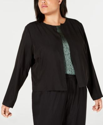 Plus Size Tencel Polyester Cropped Slouchy Pants