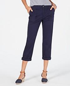 Petite Utility Pocket Capri Pants, Created for Macy's