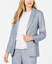 a9fead783baf Calvin Klein One-Button Shawl-Collar Blazer