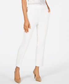 Kasper Draped Pull-On Pants