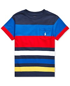 Polo Ralph Lauren Toddler Boys Striped Cotton Jersey T-Shirt