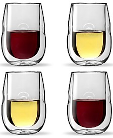 Moderna Artisan Series Double Wall 10 oz Wine Glasses - Set of 4