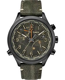 Timex Waterbury World Time 43mm Fabric Watch