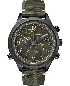 Timex Waterbury World Time 43mm Fabric Watch