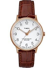 Timex Waterbury Classic 36mm Leather Strap Watch