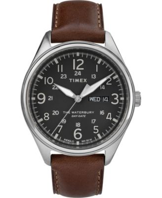 Timex Waterbury Traditional 34mm Leather Strap Watch