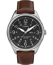 Timex Waterbury Traditional Day Date 42mm Leather Strap Watch