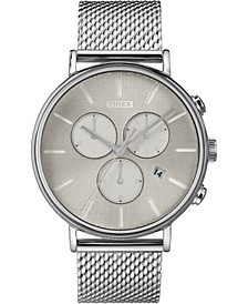 Fairfield Supernova™ Chronograph 41mm Silver Mesh Band Watch