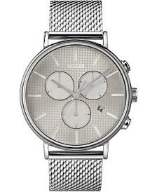 Timex Fairfield Supernova™ Chronograph 41mm Silver Mesh Band Watch