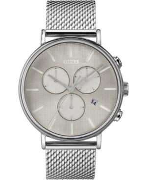 Timex Fairfield Supernova Chronograph 41mm Silver Mesh Band Watch
