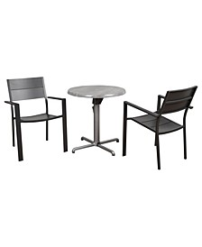 3 Piece Folding Dining Set Round