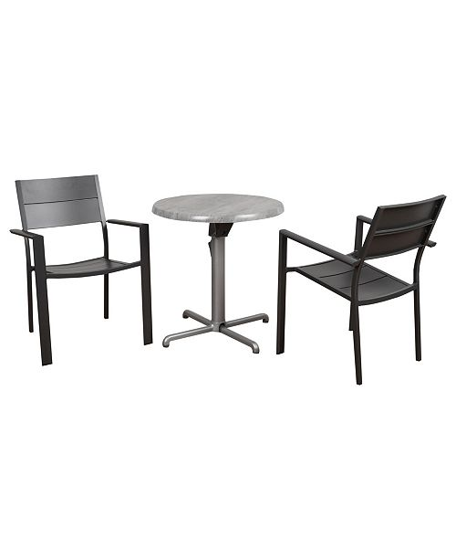 Amazonia 3 Piece Folding Dining Set Round