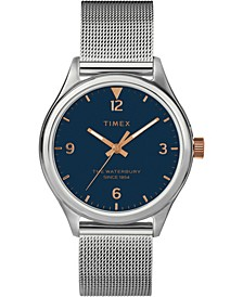Timex Waterbury Traditional 34mm Stainless Steel Mesh Band Watch