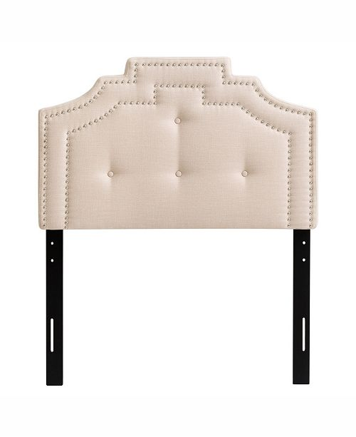 CorLiving Aspen Crown Silhouette Headboard with Button Tufting, Single/Twin