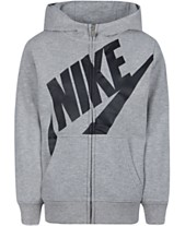 db312d176 Nike Toddler Boys Futura Modern-Fit French Terry Full-Zip Logo Hoodie