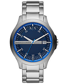A|X Armani Exchange Men's Hampton Stainless Steel Bracelet Watch 46mm