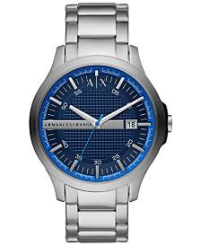 A|X Armani Exchange Men's Hampton Stainless Steel Bracelet Watch 46mm