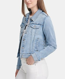 DKNY Laced-Side Denim Jacket