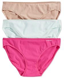 31002b9a1939 Calvin Klein Radiant Cotton Bikini 3-Pack QD3589 & Reviews - Bras ...