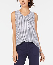 Style & Co Striped Sleeveless Top, Created for Macy's