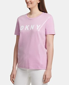 DKNY Logo Sequin T-Shirt