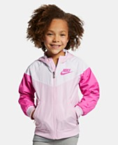 70a136e58 Nike Little Girls Windrunner Modern-Fit Water-Resistant Colorblocked Hooded  Ripstop Jacket