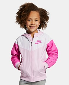 753c7ff4ae42 Nike Little Girls Windrunner Modern-Fit Water-Resistant Colorblocked Hooded  Ripstop Jacket
