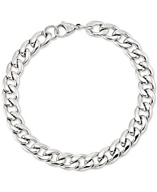 Curb Chain Bracelet in Stainless Steel