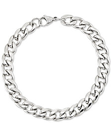 LEGACY for MEN by Simone I. Smith Curb Chain Bracelet in Stainless Steel