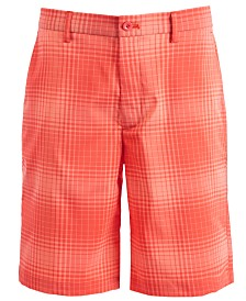 """Attack Life by Greg Norman Men's Tonal Plaid 9.75"""" Shorts, Created for Macy's"""