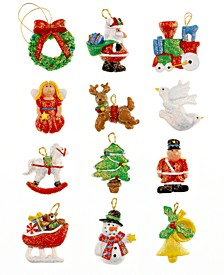 Set of 12 Mini Resin Ornaments