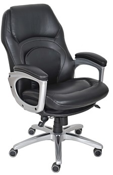 Serta Wellness Executive Leather Office Chair, Quick Ship