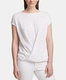 Twist-Front Short-Sleeve Top