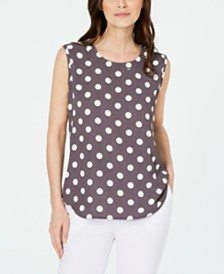 Anne Klein Polka-Dot Top