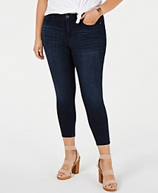 Trendy Plus Size Mid Rise Ankle Skinny Jean