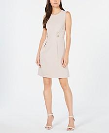 Tab-Waist Fit & Flare Dress