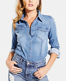 Long-Sleeve Denim Shirt