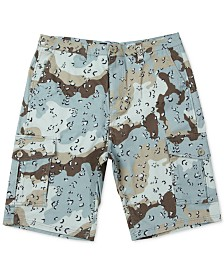 LRG Men's Desert Camo Cotton Cargo Shorts