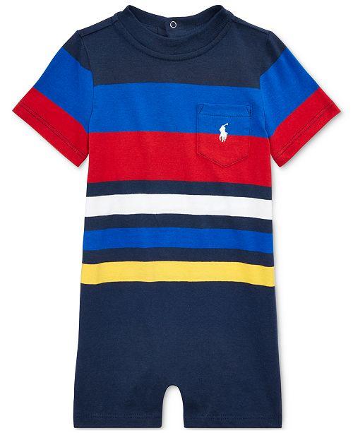 Polo Ralph Lauren Baby Boys Striped Cotton Shortall