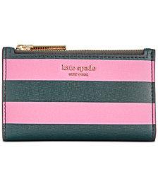 kate sapde new york Sylvia Stripe Small Slim Bifold Wallet